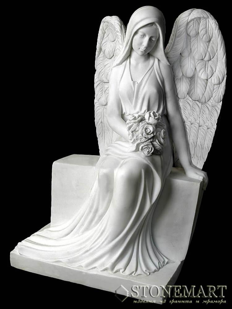 46. Скульптура сидящий ангел