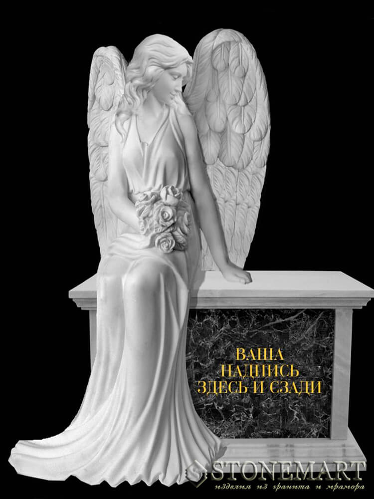 47. Скульптура: Ангел с цветами