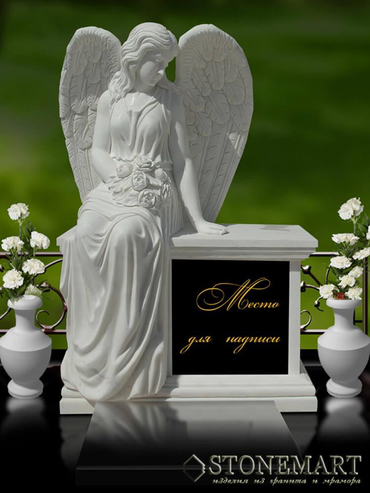 48. Скульптура: Ангел на постаменте