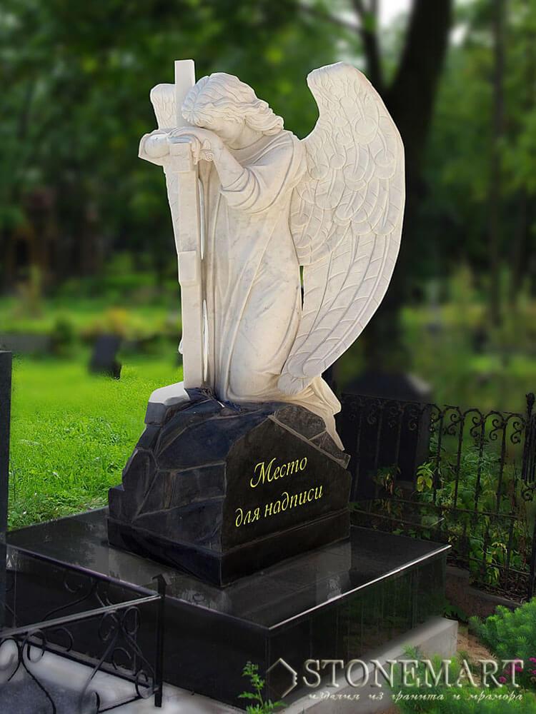 58. Скульптура: Ангел у креста