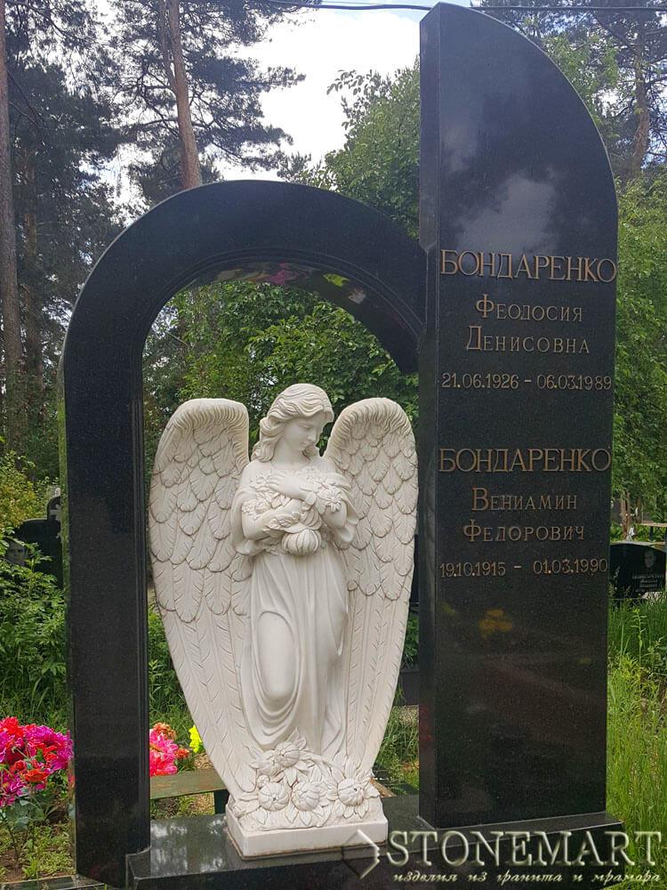 80. Памятник ангел с цветами