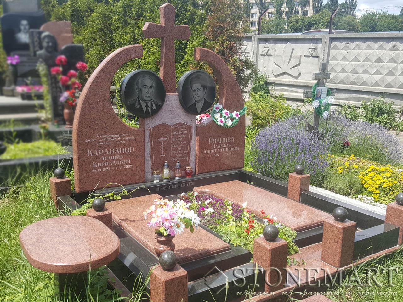 Мемориальный комплекс из красного гранита №84
