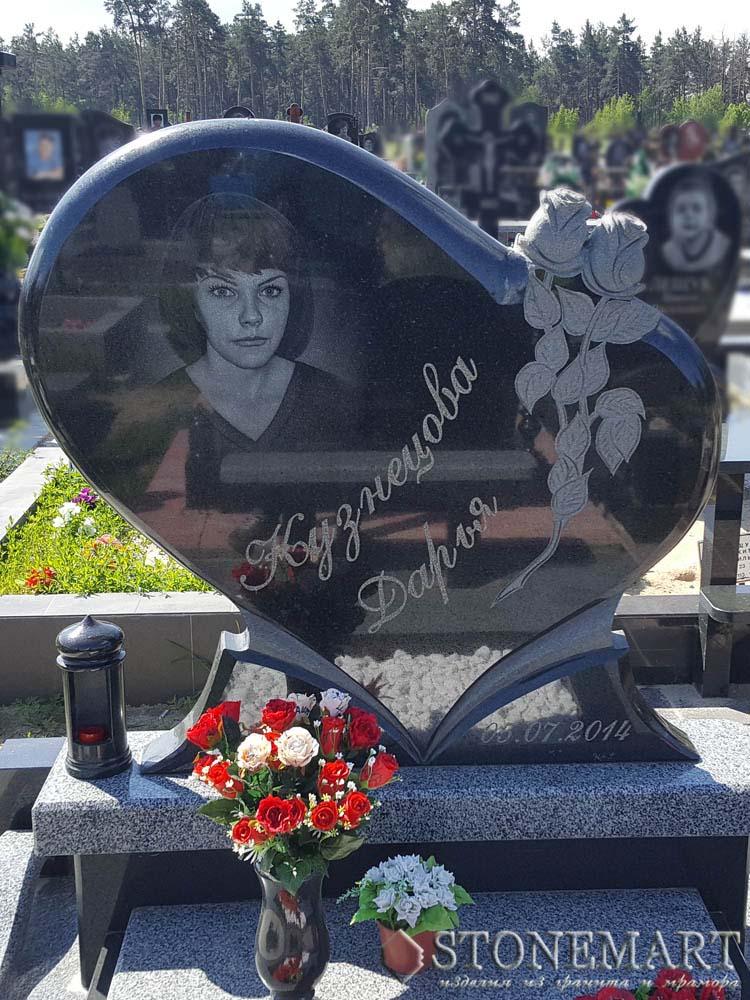 Памятник с розами №103