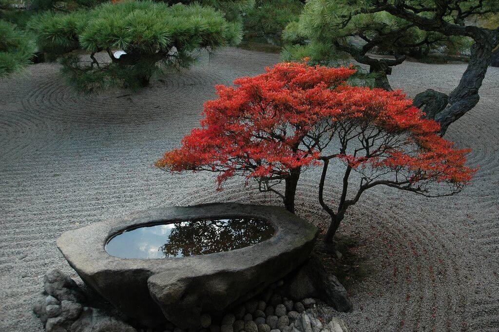 Камень в японском саду