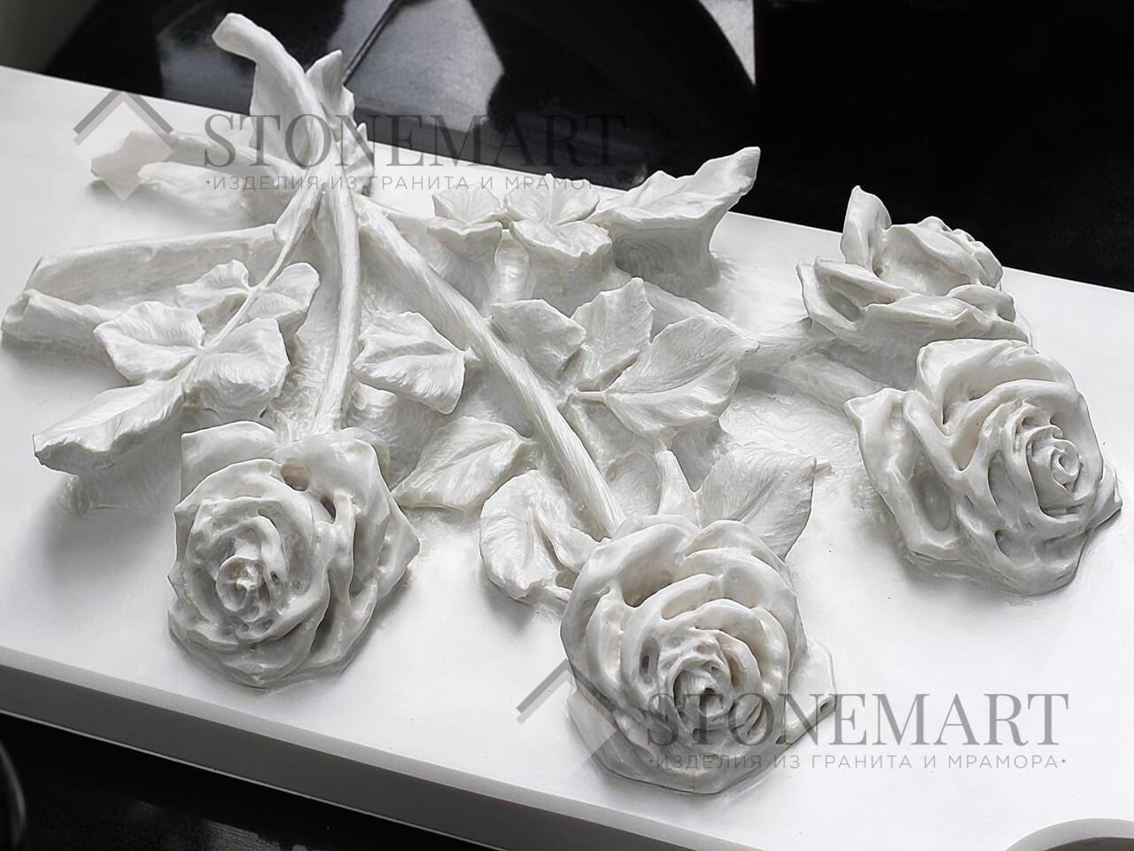 Розы из мрамора №7